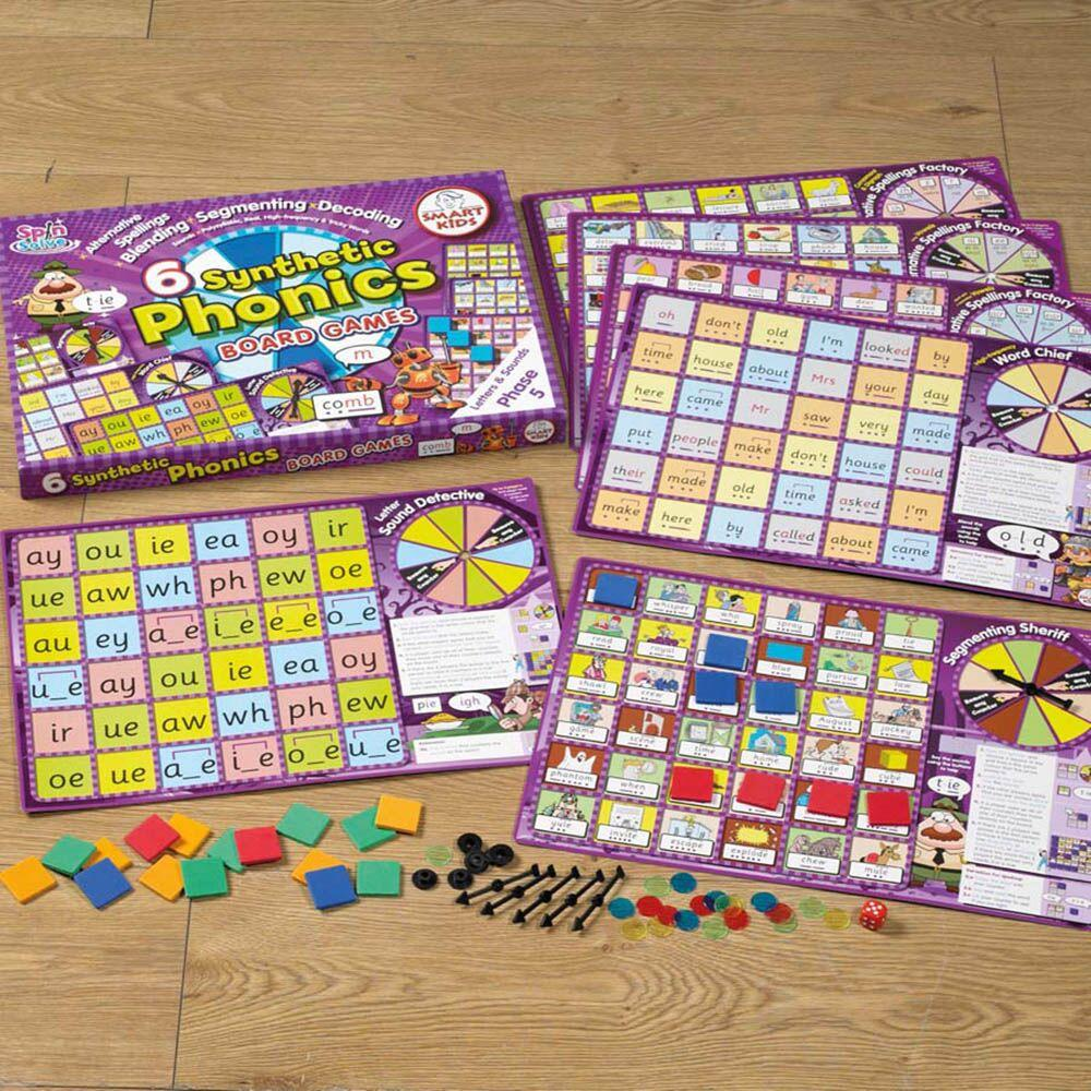6 Synthetic Phonics Phase 5 Board Games