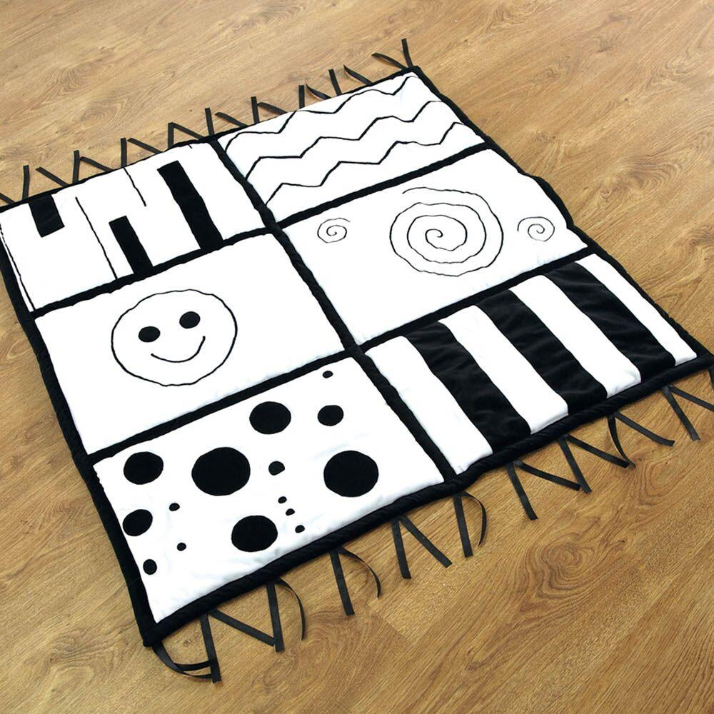 Baby Black and White Soft Mat 100 x 100cm