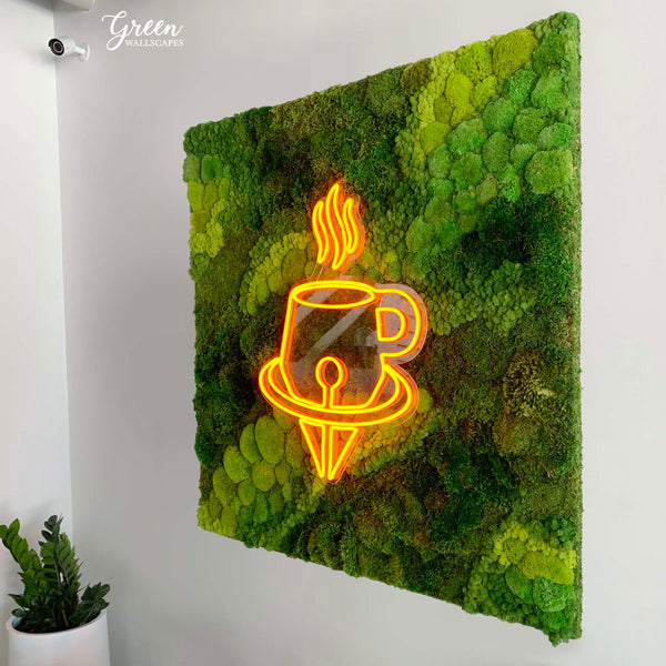 Moss Art for Coffee Shops