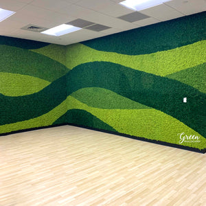 Wavy reindeer moss wall for Autonation