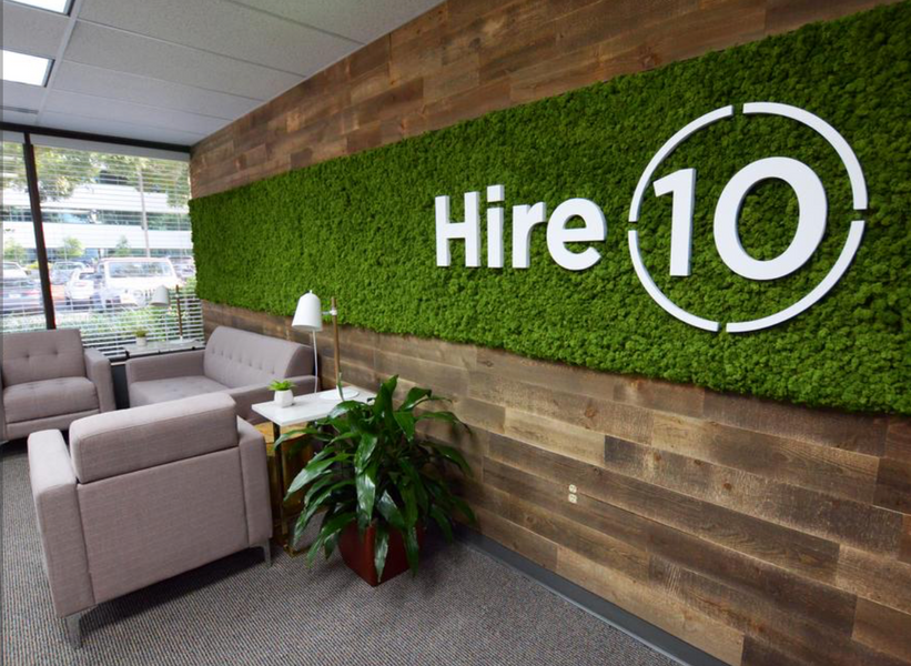 Cool office: Moss wall, reclaimed barn wood bring the outdoors inside this recruiting firm's space (PHOTOS)