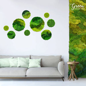 Home Wall Art | Office Wall Art | Industrial Wall Art | Circle Wall Art | Preserved Moss Wall Art | Elegant Moss Wall Art | Unique Wall Art
