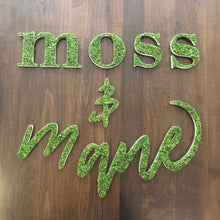 Large Moss Letters created with preserved moss and high quality frame. Custom requests Available