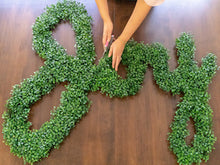 Custom Moss or Artificial Boxwood Lettering - Good for Indoors or Out! (Read description for ordering and pricing info)