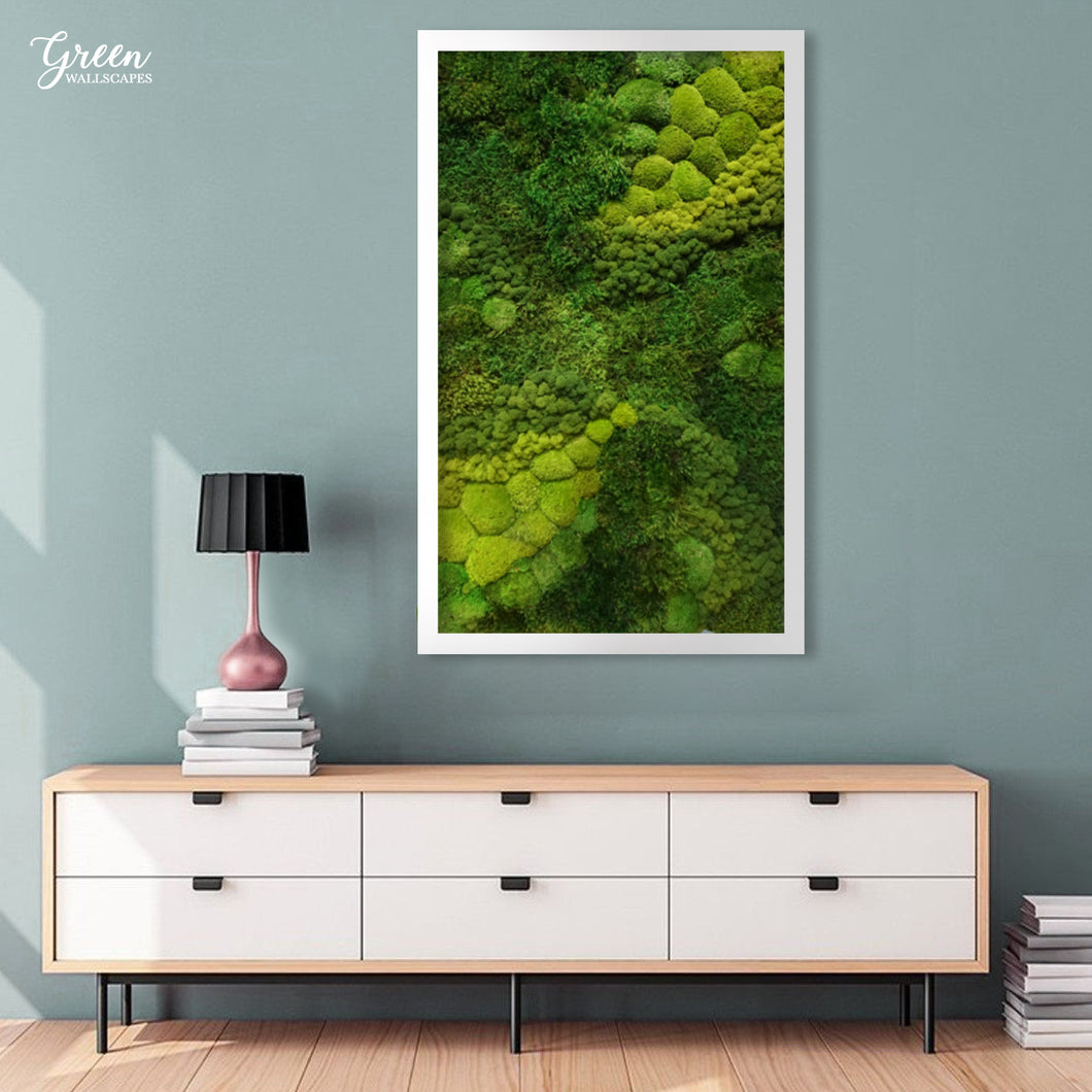 Origin Series Mixed Moss Wall Art - Free Shipping! | Moss Wall Art | Preserved Moss Wall | Unique Wall Art | Interior Moss Wall |