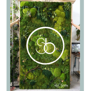 Moss Wall or Logo For Your Yoga Studio or Salon - Free Shipping! | Preserved Moss Wall Art | Elegant Moss Wall Art | Unique Wall Art