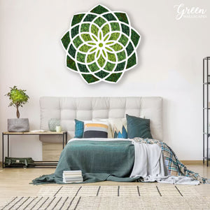 Mandala Preserved Moss Art - Free Shipping! | Office Wall Art | Preserved Moss Wall Art | Elegant Moss Wall Art | Unique Wall Art