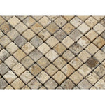 1 x 1 Tumbled Philadelphia Travertine Mosaic Tile