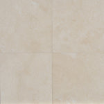 Ivory Travertine 12x12 Filled and Honed Tile - TILE & MOSAIC DEPOT