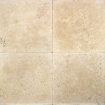 Ivory Travertine 18x18 Tumbled Tile