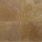 Noce Travertine 18x18 Filled Honed Straight Edge Tile - TILE AND MOSAIC DEPOT
