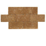 Noce Travertine 3x6 Tumbled Tile - TILE AND MOSAIC DEPOT