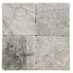 Silver Travertine 6x6 Tumbled Tile - TILE AND MOSAIC DEPOT