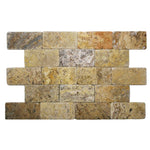 Scabos Travertine 3x6 Tumbled Tile - TILE AND MOSAIC DEPOT