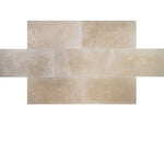 Ivory Travertine 12x24 Filled and Honed Tile - TILE & MOSAIC DEPOT