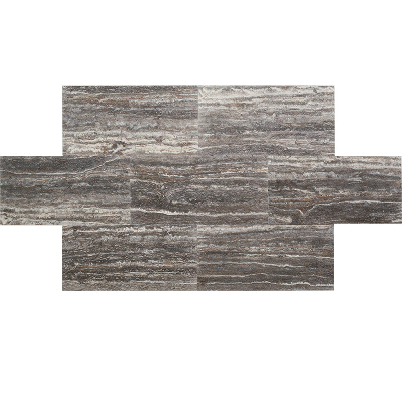 Silver Titan Travertine 12x24 Vein Cut Honed Tile - TILE AND MOSAIC DEPOT