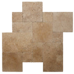 Walnut Travertine Tumbled Versailles Pattern Tile - TILE AND MOSAIC DEPOT