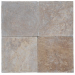 Noce Travertine 24x24 3cm Tumbled Paver - TILE AND MOSAIC DEPOT