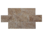 Walnut Travertine 6x12 Paver Tumbled - TILE & MOSAIC DEPOT