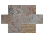 Scabas Travertine 16x24 3cm Tumbled Paver - TILE AND MOSAIC DEPOT
