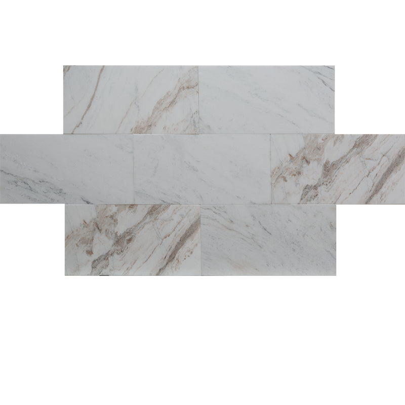 Calacatta Amber Marble 12x24 Polished Tile - TILE AND MOSAIC DEPOT