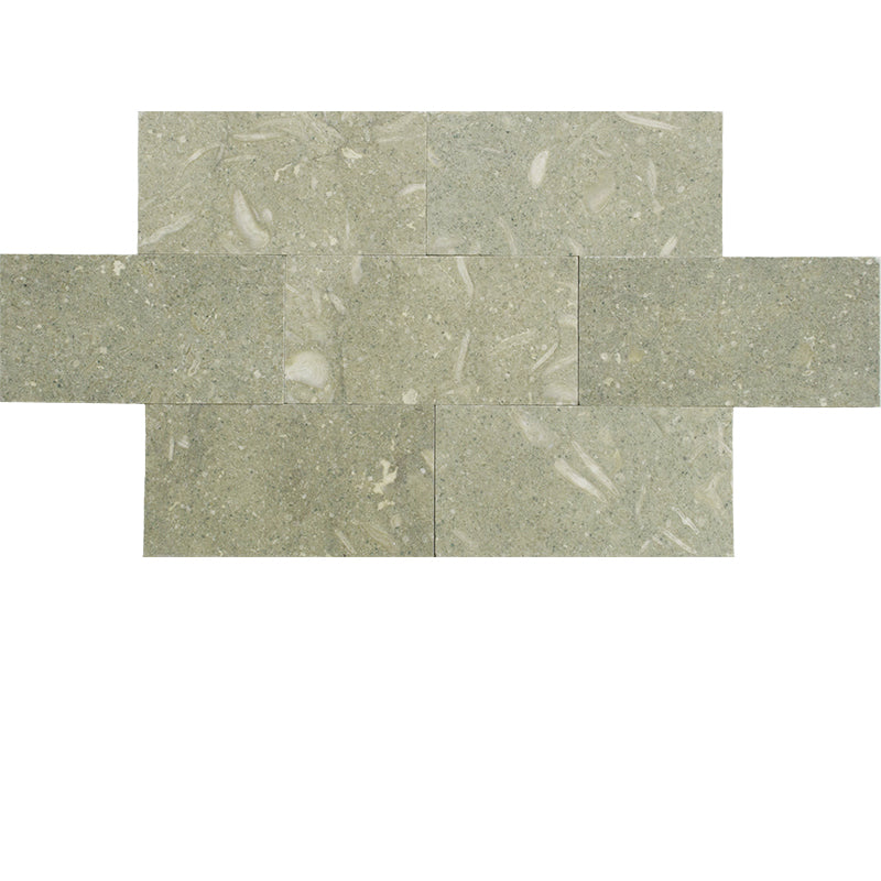 Seagrass Limestone 3x6 Honed Tile - TILE AND MOSAIC DEPOT