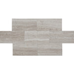 Haisa Light (White Oak) Marble 3x6 Honed Tile - TILE AND MOSAIC DEPOT