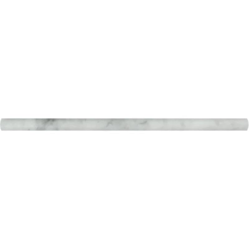 White Carrara Marble 1/2x12 Polished Pencil Liner - TILE AND MOSAIC DEPOT