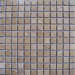 Noce Travertine 1x1 Tumbled Mosaic Tile - TILE AND MOSAIC DEPOT