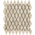 1 x 2 Tumbled Durango Travertine Diamond Mosaic Tile