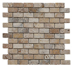 Scabos Travertine 1x2 Tumbled Mosaic Tile - TILE AND MOSAIC DEPOT