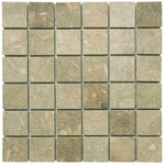 Seagrass Limestone 2x2 Honed Mosaic Tile - TILE AND MOSAIC DEPOT