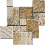 Scabos Opus Mini Pattern Tumbled Mosaic Tile - TILE AND MOSAIC DEPOT