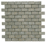 Seagrass Limestone 1x2 Tumbled Mosaic Tile - TILE AND MOSAIC DEPOT