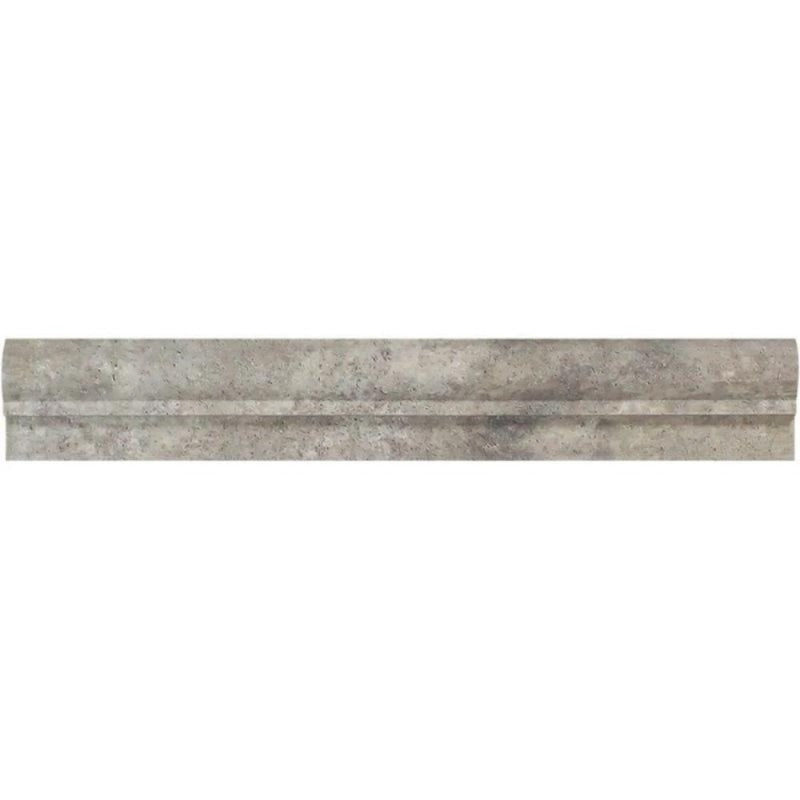 Silver Travertine 2x12 1 Step Chairrail - TILE AND MOSAIC DEPOT