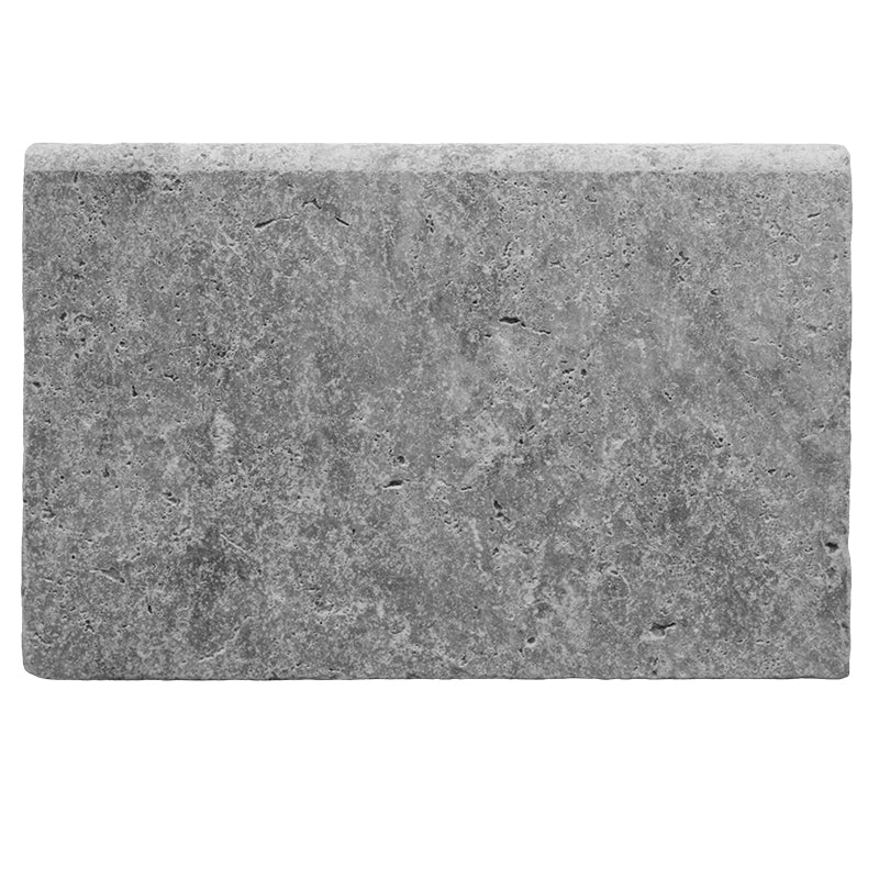 Silver Travertine 16x24 5cm Tumbled Pool Coping - TILE AND MOSAIC DEPOT