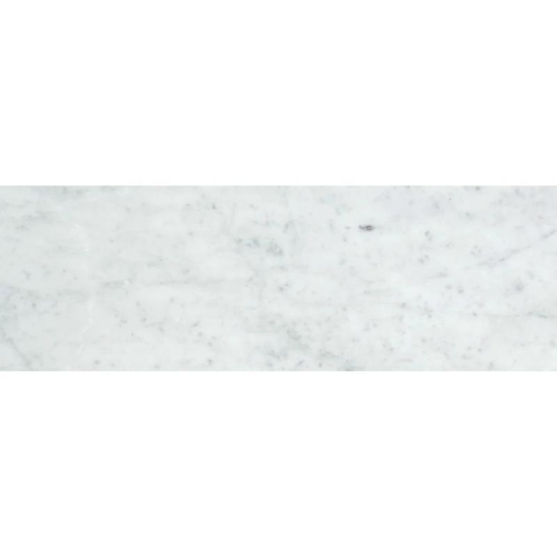 White Carrara Marble 4x12 Honed Tile - TILE AND MOSAIC DEPOT
