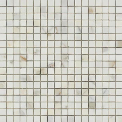 Calacatta Gold Marble 5/8x5/8 Polished Mosaic Tile - TILE AND MOSAIC DEPOT