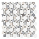 Aether Blue 11.5 x 12 Special Design Honed Mosaic Tile