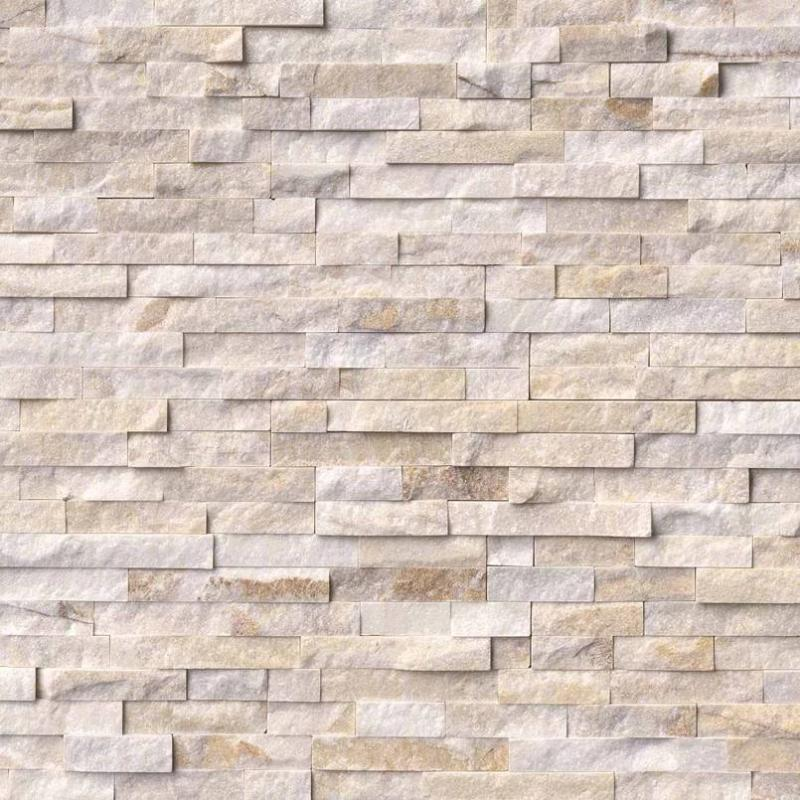 Sample Arctic Gold 6x24 Stacked Stone Ledger Panel - TILE AND MOSAIC DEPOT
