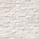 Arctic White 6x24 Stacked Stone Ledger Panel - TILE AND MOSAIC DEPOT
