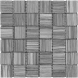 Bardiglio Scuro Marble 2x2 Polished Mosaic Tile - TILE AND MOSAIC DEPOT
