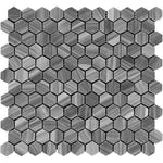 Bardiglio Scuro Marble 1x1 Hexagon Polished Mosaic Tile - TILE AND MOSAIC DEPOT