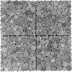 Bardiglio Scuro Marble Bubble Design Polished Mosaic Tile - TILE & MOSAIC DEPOT