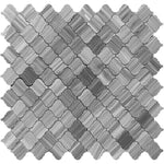 Bardiglio Scuro Marble 3x3 Lantern Polished Mosaic Tile - TILE AND MOSAIC DEPOT
