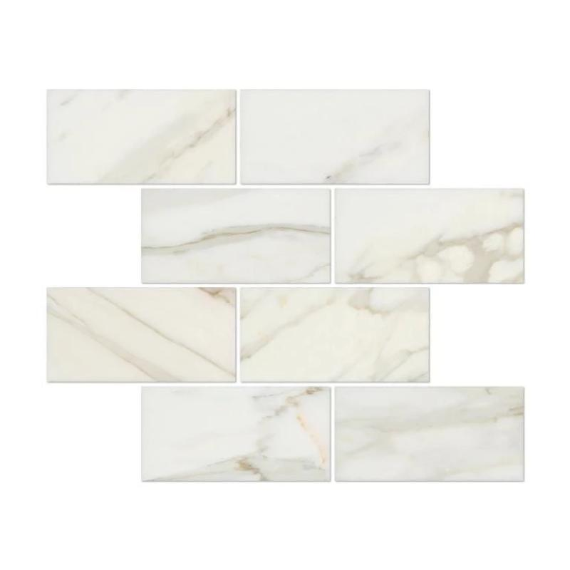 Calacatta Gold Marble 3x6 Polished Tile - TILE AND MOSAIC DEPOT
