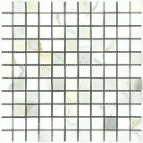 Calacatta Gold Marble 1x1 Polished Mosaic Tile - TILE AND MOSAIC DEPOT