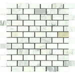 Calacatta Gold Marble 1x2 Polished Mosaic Tile - TILE AND MOSAIC DEPOT