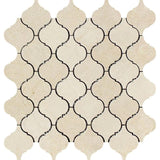 Crema Marfil Marble Honed Lantern Design Mosaic Tile - TILE AND MOSAIC DEPOT