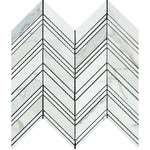 Calacatta Gold Marble Chevron Honed Mosaic Tile - TILE AND MOSAIC DEPOT